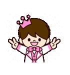ピンクの王子様スタンプ(個別スタンプ:17)