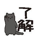 でか文字もっちり黒猫の使いやすいスタンプ(個別スタンプ:01)