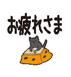 でか文字もっちり黒猫の使いやすいスタンプ(個別スタンプ:05)