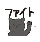 でか文字もっちり黒猫の使いやすいスタンプ(個別スタンプ:29)
