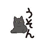 でか文字もっちり黒猫の使いやすいスタンプ(個別スタンプ:40)