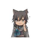 獣耳キャラクタースタンプ(個別スタンプ:03)