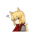 獣耳キャラクタースタンプ(個別スタンプ:10)