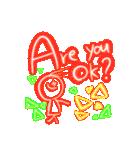 キラキラネオン文字スタンプ(個別スタンプ:23)