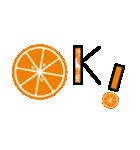 ◎フルーツ輪切り文字◎オレンジver♪♪(個別スタンプ:05)