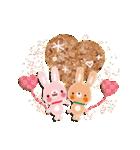 気持ちが伝わる♡スタンプ(チョコ味)(個別スタンプ:35)