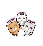 動く!3匹の子ネコ!(個別スタンプ:04)