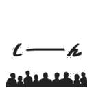 盛り上げスタンプ★モノクロな集団(個別スタンプ:15)