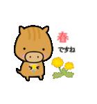 いのししうりぼう  うりりん  春スタンプ(個別スタンプ:4)