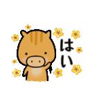 いのししうりぼう  うりりん  春スタンプ(個別スタンプ:12)