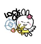 恋する♥️花うさちゃん3 : 落書きスタンプ(個別スタンプ:12)