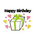 誕生日とお祝いスタンプ(個別スタンプ:02)