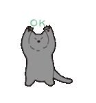 もっちりグレー猫の使いやすいスタンプ(個別スタンプ:04)