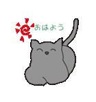もっちりグレー猫の使いやすいスタンプ(個別スタンプ:06)