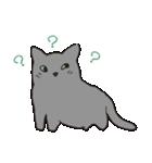 もっちりグレー猫の使いやすいスタンプ(個別スタンプ:07)