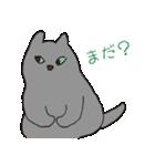 もっちりグレー猫の使いやすいスタンプ(個別スタンプ:15)