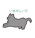 もっちりグレー猫の使いやすいスタンプ(個別スタンプ:17)