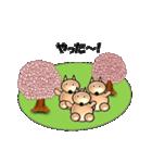 桜-三匹の犬たち(個別スタンプ:02)