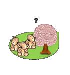 桜-三匹の犬たち(個別スタンプ:03)