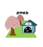 桜-三匹の犬たち(個別スタンプ:11)