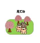 桜-三匹の犬たち(個別スタンプ:29)