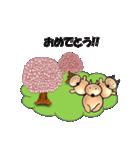 桜-三匹の犬たち(個別スタンプ:32)