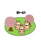 桜-三匹の犬たち(個別スタンプ:38)