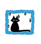 シンプル黒猫☆感謝・気持ち伝える▷動く(個別スタンプ:19)