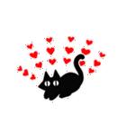 シンプル黒猫☆感謝・気持ち伝える▷動く(個別スタンプ:20)