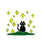 シンプル黒猫☆感謝・気持ち伝える▷動く(個別スタンプ:22)