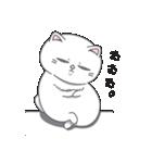 ネコのましゅまろ 白ver.(個別スタンプ:18)