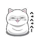 ネコのましゅまろ 白ver.(個別スタンプ:40)
