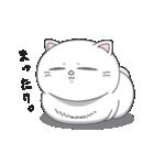 ネコのましゅまろ2 白ver.(個別スタンプ:01)