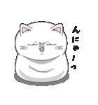 ネコのましゅまろ2 白ver.(個別スタンプ:14)
