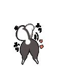 可愛い黒柴(個別スタンプ:01)