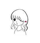 ほのぼのやさしい女の子(個別スタンプ:01)