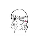 ほのぼのやさしい女の子(個別スタンプ:02)