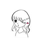 ほのぼのやさしい女の子(個別スタンプ:03)