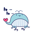 クジラのラブリー(個別スタンプ:01)