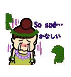 英語と日本語 フラダンスでっこちゃん(個別スタンプ:26)