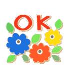 シンプルな連絡*北欧風*春の花々(個別スタンプ:01)