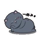 ネコのましゅまろ 黒ver.(個別スタンプ:16)