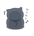 ネコのましゅまろ 黒ver.(個別スタンプ:32)