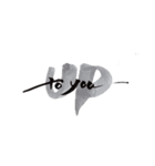 大きなアート筆文字 【英語】(個別スタンプ:17)