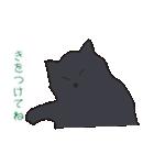 もっちり黒猫の可愛くて使いやすいスタンプ(個別スタンプ:21)