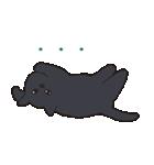 もっちり黒猫の可愛くて使いやすいスタンプ(個別スタンプ:33)