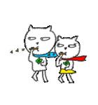 青マフたまちゃん&赤マフマリちゃん1(個別スタンプ:09)