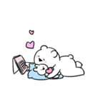 すこぶる動くちびウサギ&クマ【愛】(個別スタンプ:07)