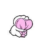 すこぶる動くちびウサギ&クマ【愛】(個別スタンプ:19)