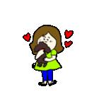 女の子とトイプの可愛いスタンプ(個別スタンプ:01)